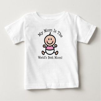 Baby Girl Worlds Best Mom Mothers Day Baby T-Shirt