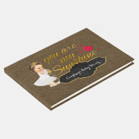 Baby Girl You Are My Sunshine | Burlap Baby Shower Guest Book