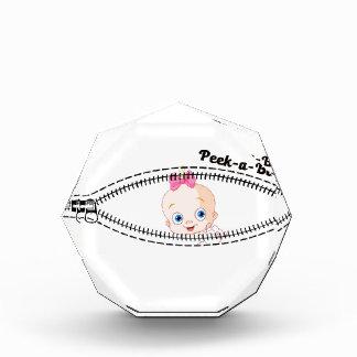 baby girl zip acrylic award