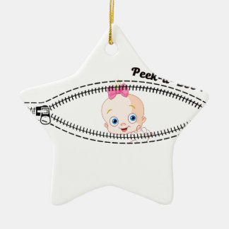 baby girl zip ceramic ornament