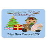 Baby Girl's 1st Christmas Flex Magnets