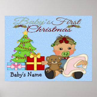 Baby Girl's 1st Christmas Poster/Print