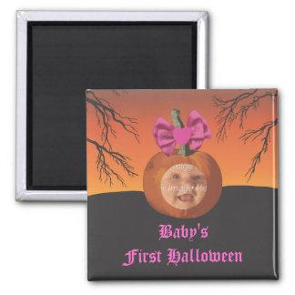 Baby Girl's 1st Halloween Fridge Magnets
