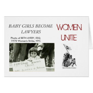 BABY GIRLS BECOME LAWYERS CARD