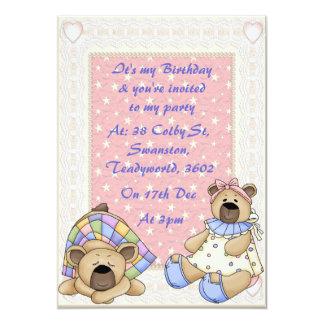 Baby Girls Birthday 5x7 Paper Invitation Card