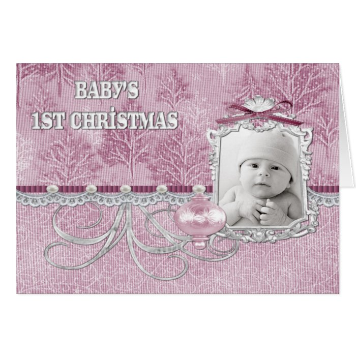 Baby Girls First Christmas Card