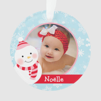 Baby Girl's First Christmas | Winter Friends Ornament