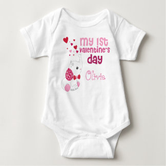 Baby Girl's First Valentine's Day Custom Baby Bodysuit