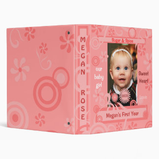 Baby Girl's First Year Custom Binder