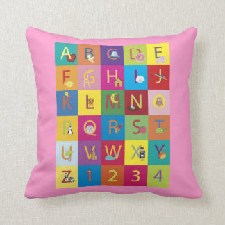 Throw Pillows With Letters On Them : Alphabet Pillows - Alphabet Throw Pillows Zazzle
