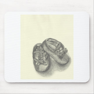 Baby Girls Pretty Shoes Mouse Pad