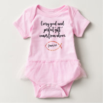Baby Girl's Tutu Outfit with Scripture Verse Baby Bodysuit