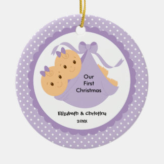 Baby Girls Twins Baby s First Christmas Ornament