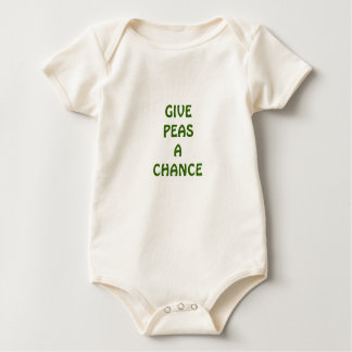 Baby Give Peas a Chance Baby Bodysuit