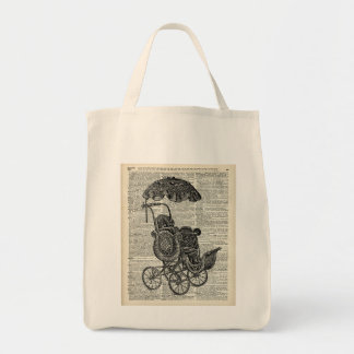 Baby Go Cart child trolley Grocery Tote Bag