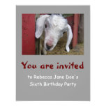 Baby Goat Birthday Party Invitation