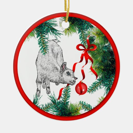 Baby Goat Christmas Ornament