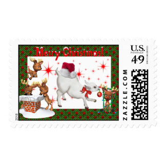 Baby Goat Christmas Postage