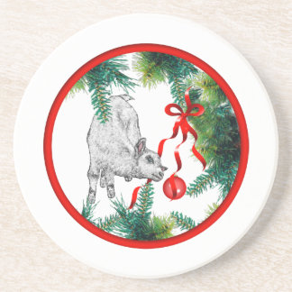 Baby Goat Goat Sandstone Coaster