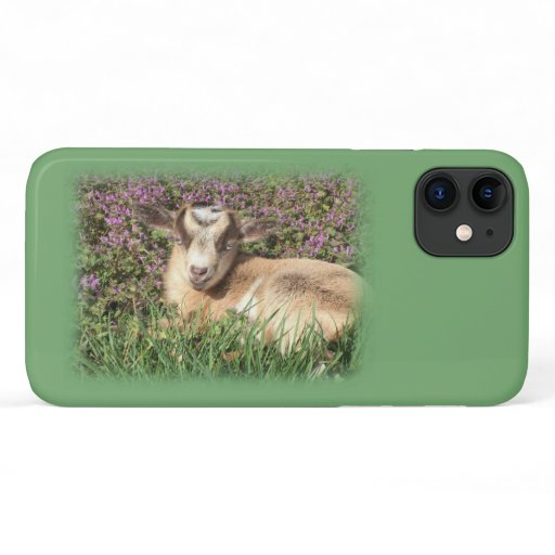 Baby Goat Kid Barnyard Farm Animal Girl iPhone 11 Case
