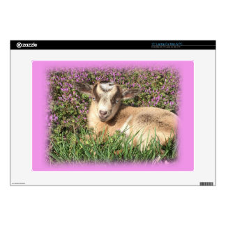 Baby Goat Kid Barnyard Farm Animal Teen Girl Pink Skins For Laptops