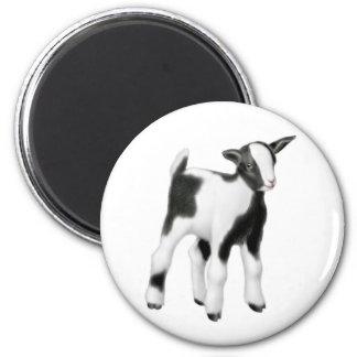 Baby Goat Round Magnet