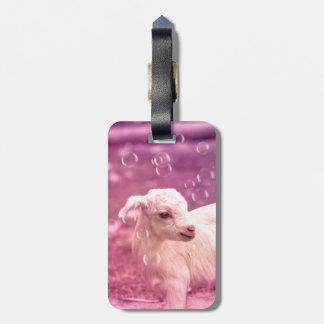 Baby Goat Whitey Bag Tag