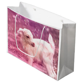Baby Goat Whitey Large Gift Bag