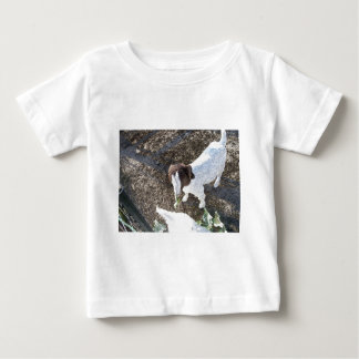 Baby Goat with Cabbage Leaves Baby T-Shirt