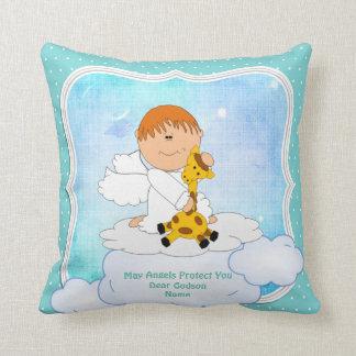 Baby Godson Gift Communion Baptism Cute Angel Throw Pillow