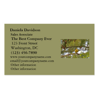 Baby Goldfinch Photo Business Card