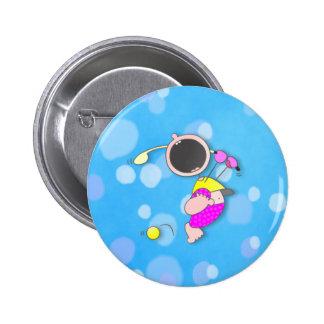 Baby Golf Champion 2 Inch Round Button