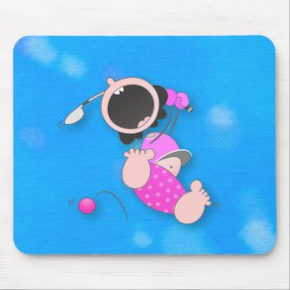 Baby Golfer mousepad