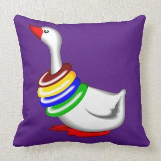 Baby Goose cute baby Purple decor pillow