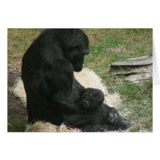 baby gorilla 005 greeting card
