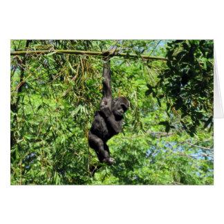 Baby Gorilla (2035)  - Greeting Card