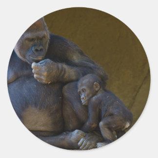 Baby Gorilla Classic Round Sticker