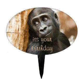 Baby gorilla Happy Birthday Cake Topper