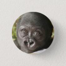 BABY GORILLA ROUND BUTTON PIN