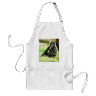 Baby Gorilla Snacking Adult Apron