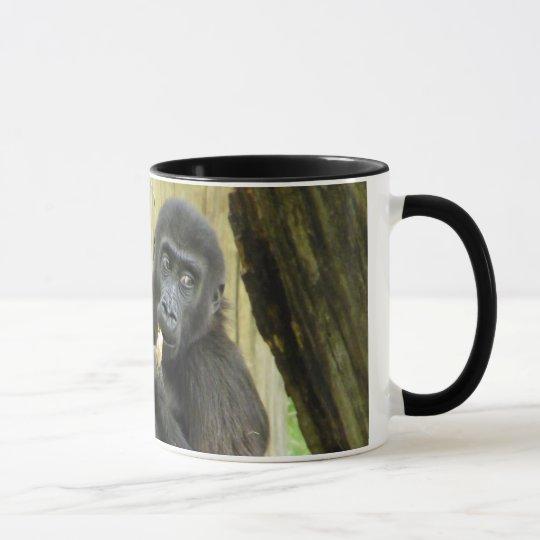 Baby Gorilla Snacking Mug