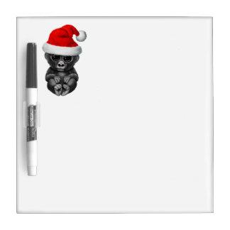 Baby Gorilla Wearing a Santa Hat Dry-Erase Board