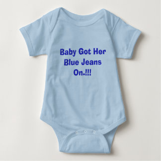 Baby Got Her Blue Jeans On.!!! Baby Bodysuit