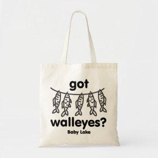 baby got walleye canvas bags