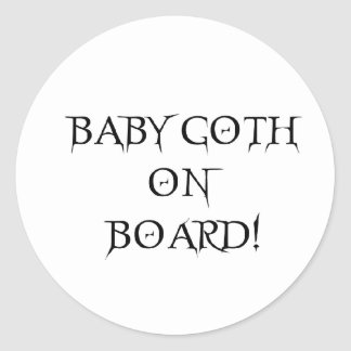 BABY GOTH ON BOARD STICKERS