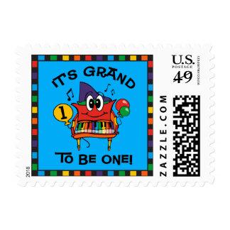 Baby Grand Piano 1st Birthday Postage Stamp