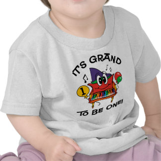 Baby Grand Piano 1st Birthday Tee Shirts