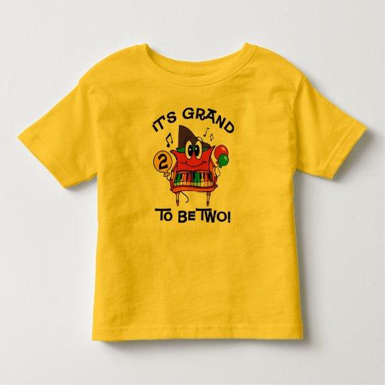 Baby Grand Piano 2nd Birthday Toddler T-shirt