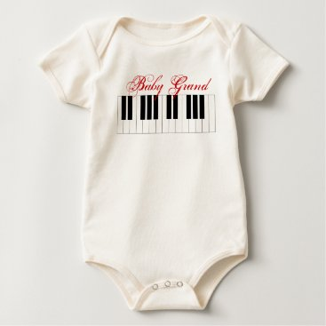 Toddler & Baby themed Baby Grand Piano - Baby Bodysuit
