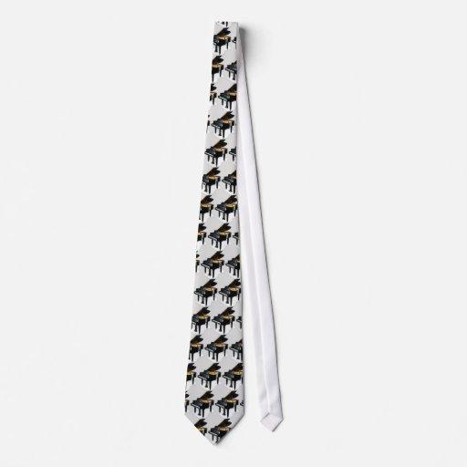 Baby Grand Piano - GreyBkg Neck Tie
